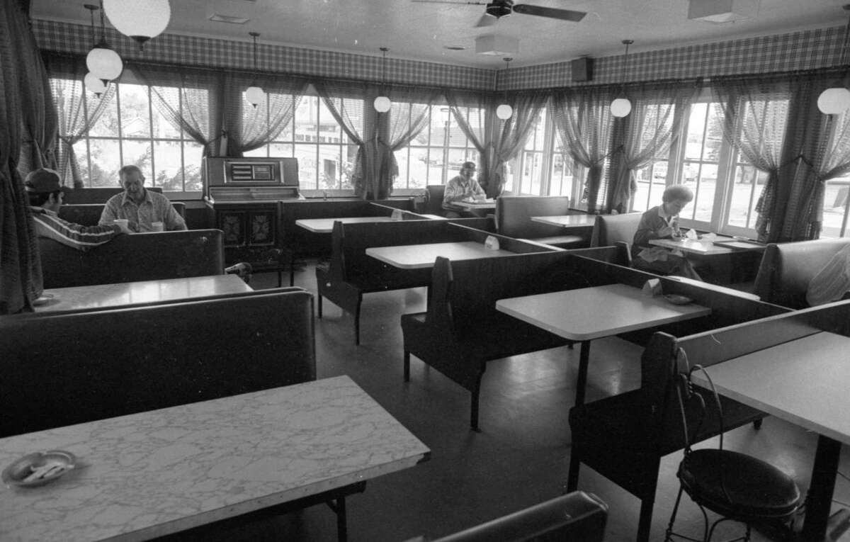 This photo shows a June 1981 interior view of the Dairy Depot formerly located at 266 Cypress St. (Manistee County Historical Museum photo)
