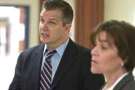 Brookfield Superintendent John Barile and Board of Education Chairwoman Colette Sturm toured Huckleberry Hill Elementary School and Center Elementary School in Brookfield, Conn, Wednesday, February 27, 2019.