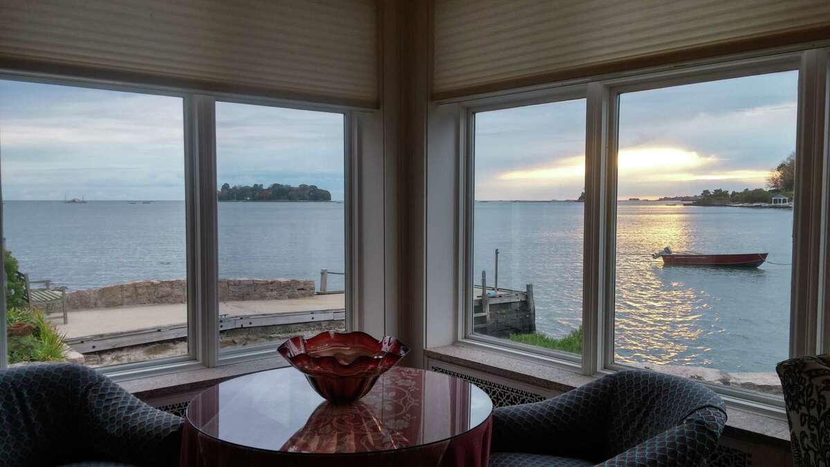 The breakfast view at the Thimble Islands B and B