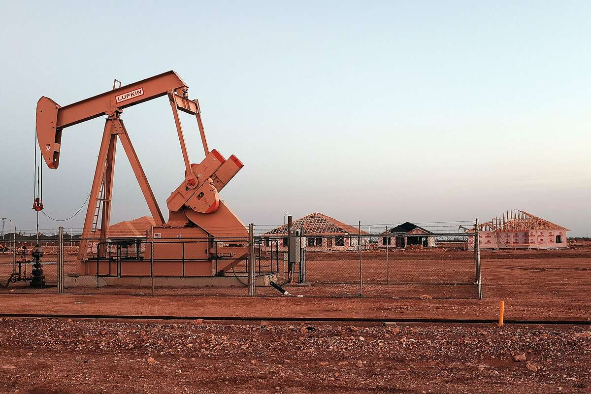 An oil well in Midland, Texas.