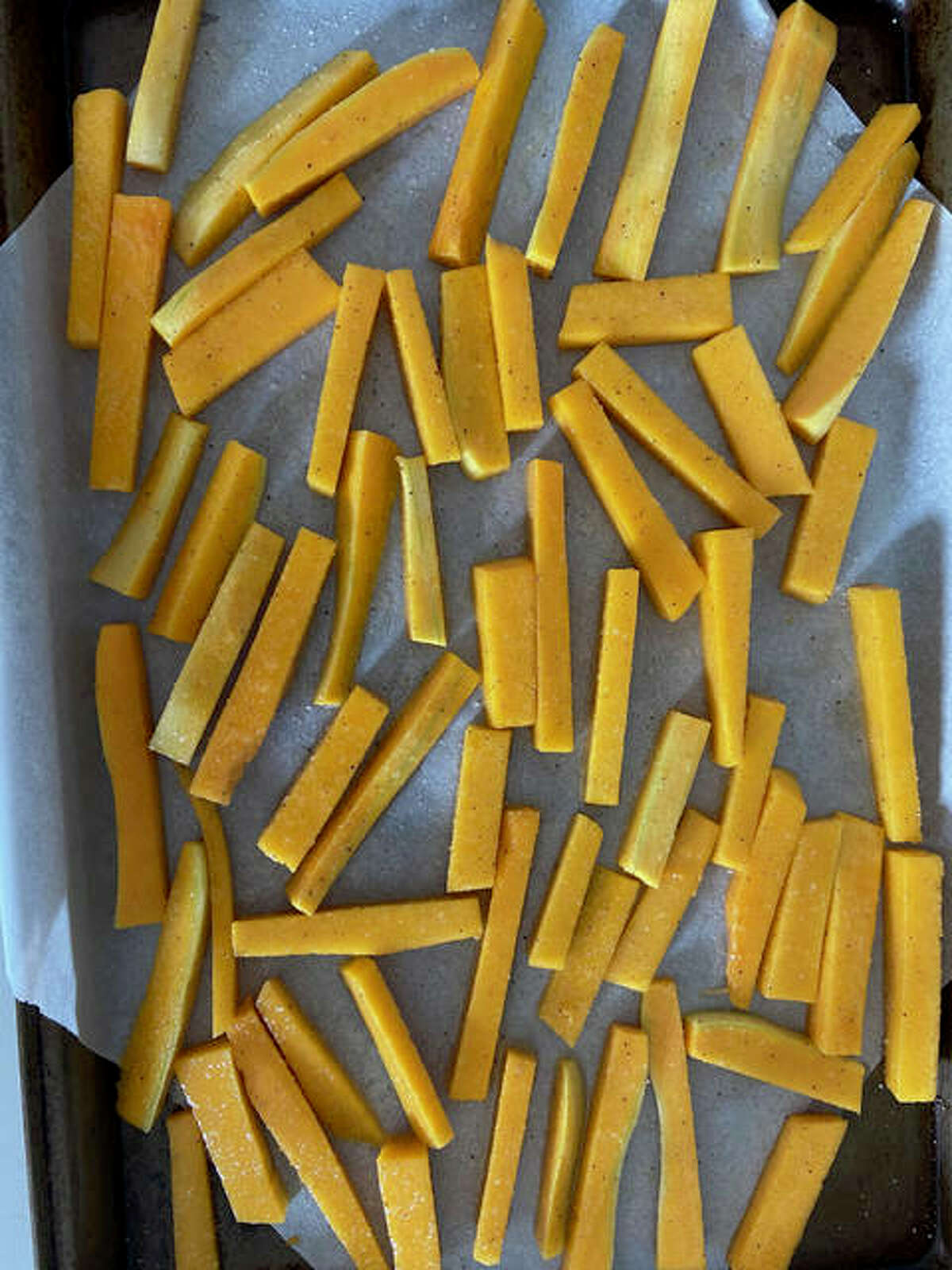 Butternut squash fries give you that crunch and can be healthier than most potato options, according to recipe creator Rachel Tritsch.