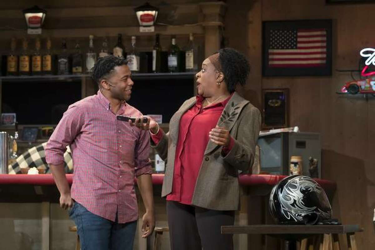 """Kevin Minor, left, performing at Asolo Repertory Theatre in the show """"Sweat."""""""