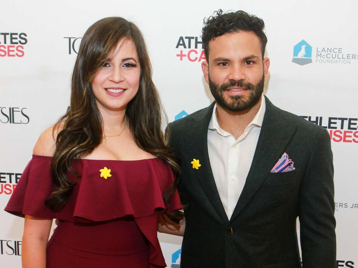 Nina and Jose Altuve at Astros Team Up for Kids and K9s at Tootsies on June 13, 2019.