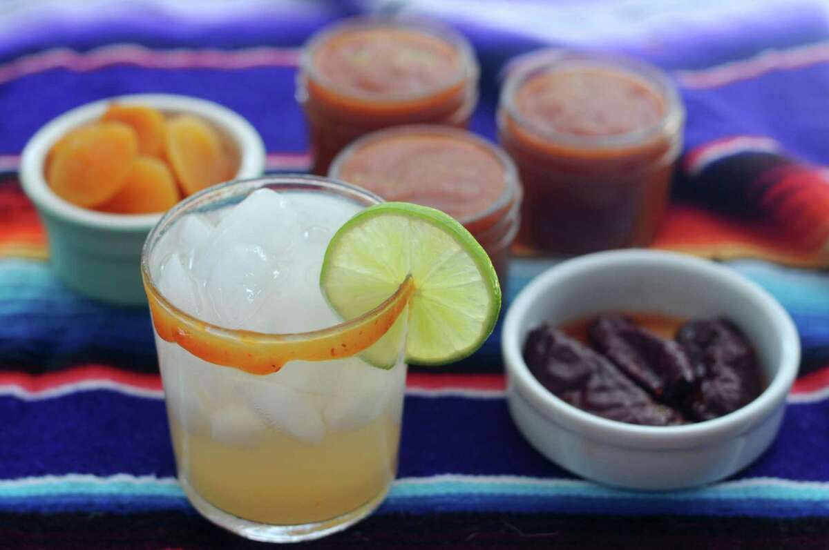 Chamoy is easy to make at home from dried apricots, pickled chipotle chiles and lime juice.