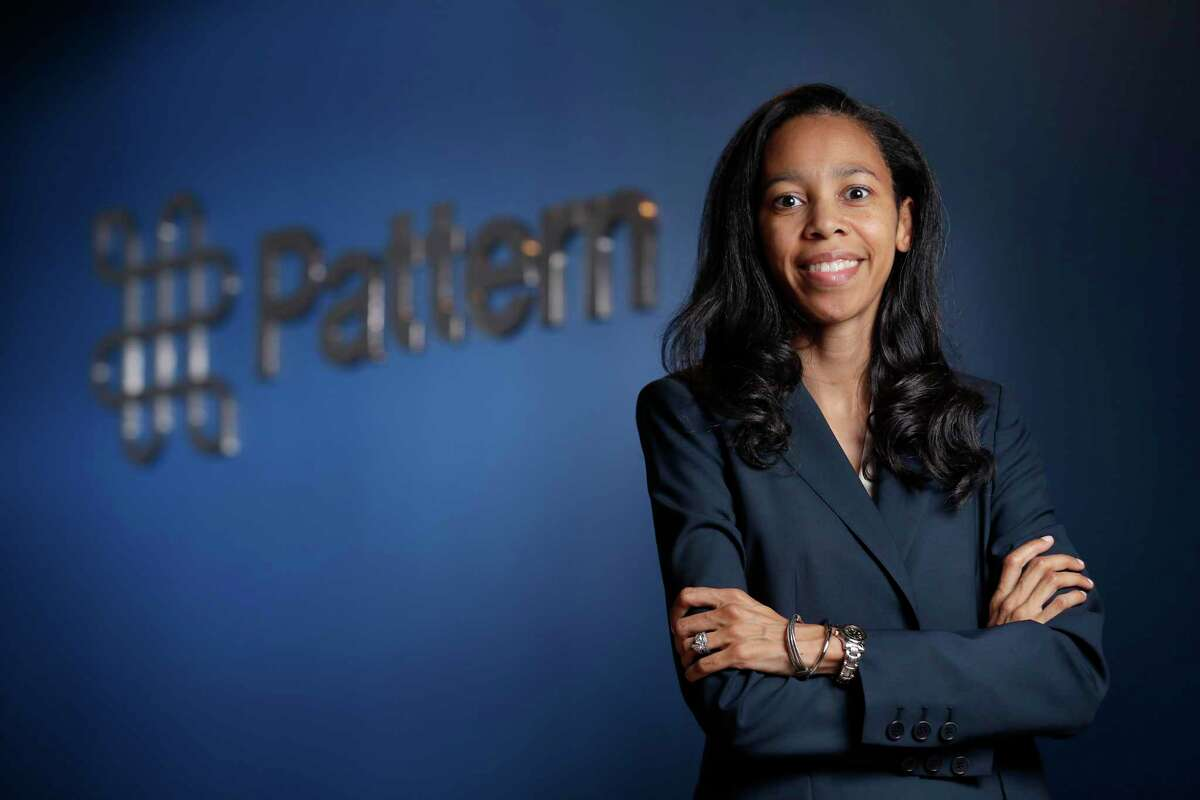 Lauren Hall, senior counsel for Pattern Energy, in the new company offices Friday, Jun. 11, 2021 in Houston, TX.