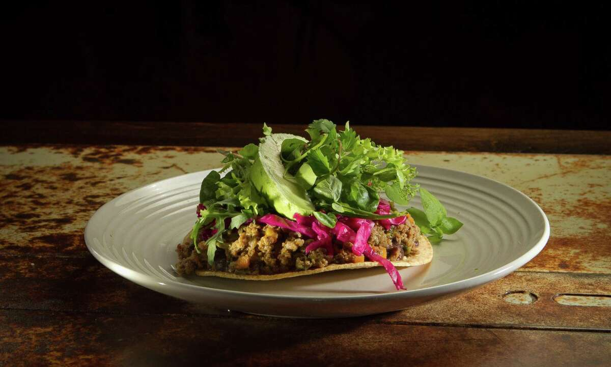 Ground beef tostada at Mateo's Cocina Latina in Healdsburg. The restaurant is permanently closing in July.