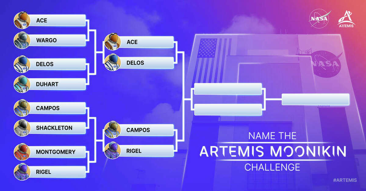 This chart provided by NASA shows the Moonikin naming contest bracket.