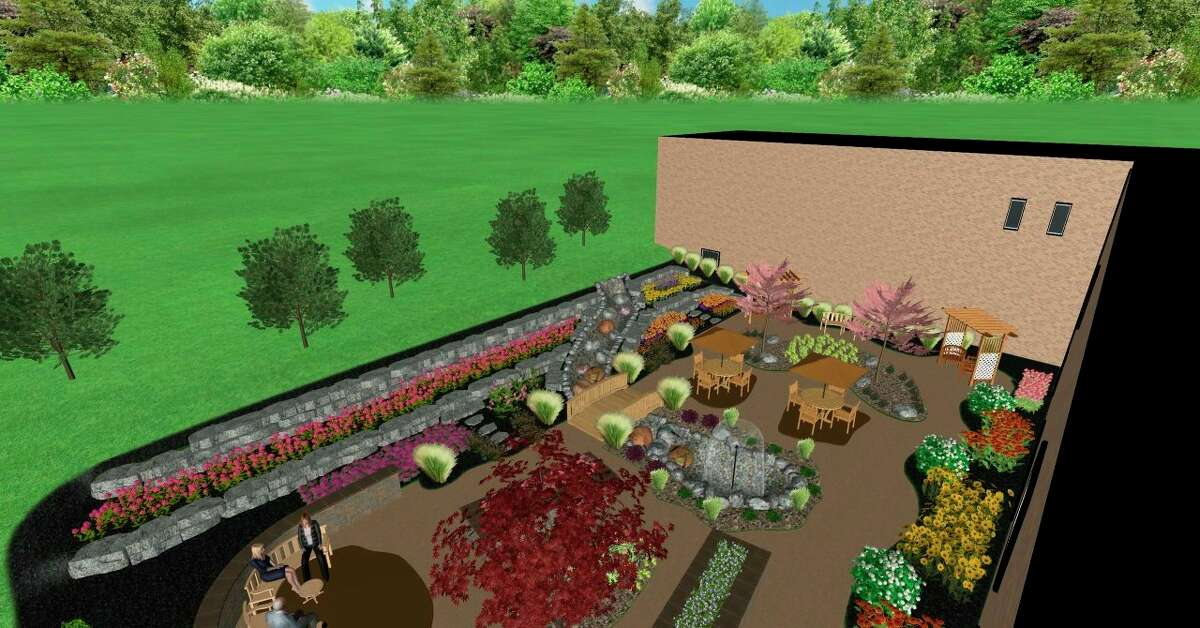 """A digital rendering of the """"Healing Garden"""" shows what the garden will look like after its completed. (Courtesy Photo)"""