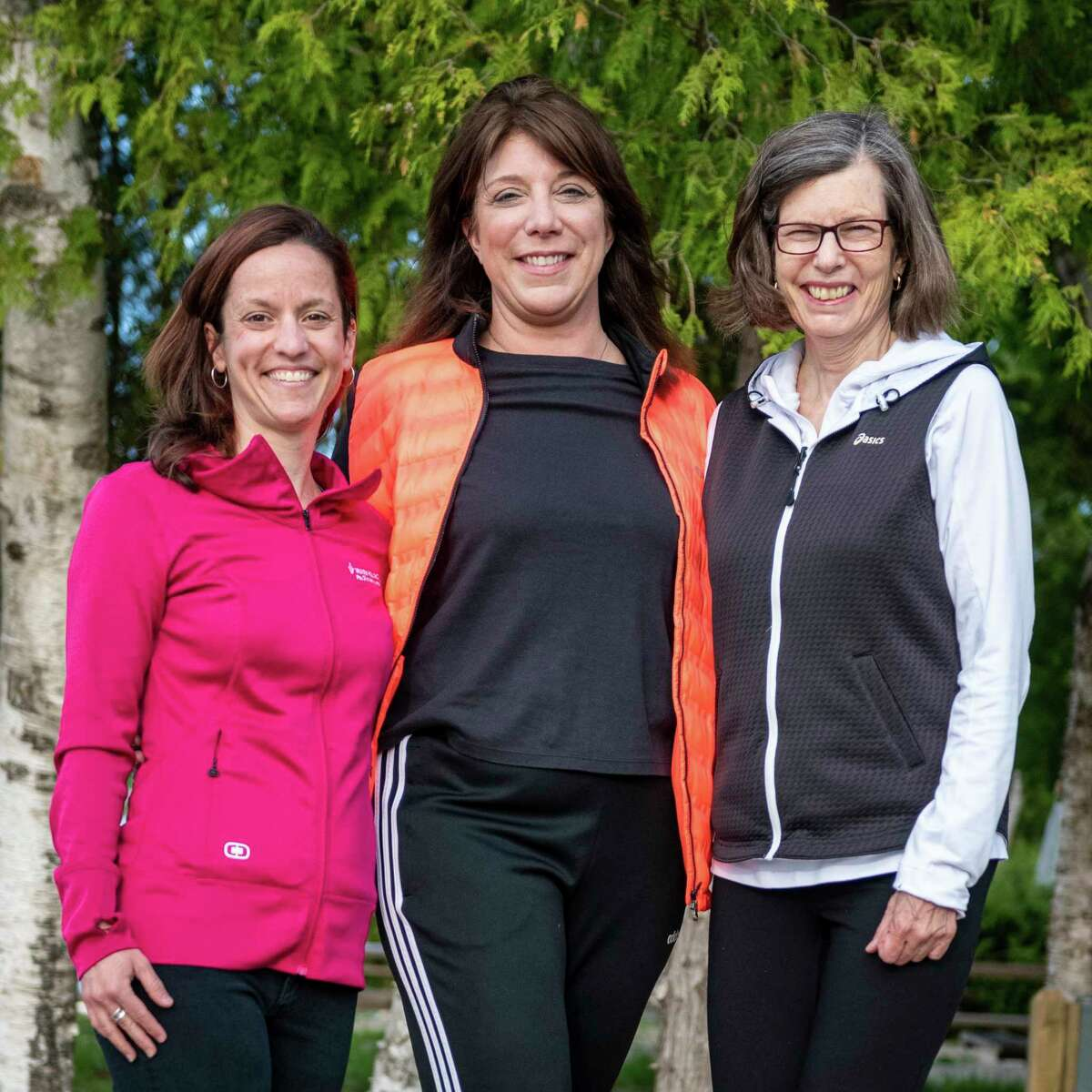 Adrienne Stephen Jones (left), Nancy Smith (middle)and Michelle Russell (right) will be participating in the Ironman event in September to raise money for Paul Oliver. (Courtesy Photo)
