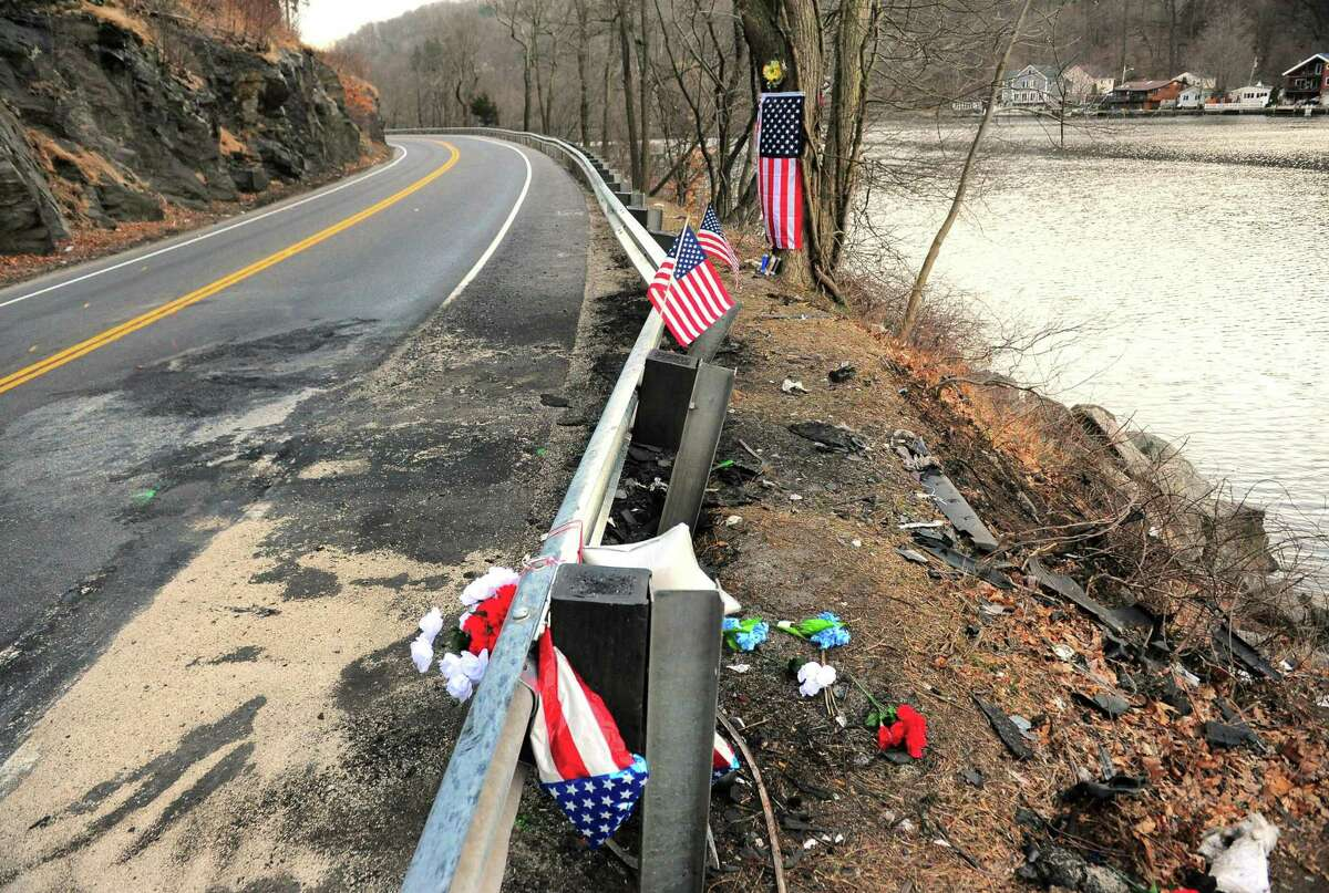 A view of the scene from a fatal crash that happened along Route 34 near Cullens Hill Road in Derby, Conn., on Tuesday Mar. 10, 2020.