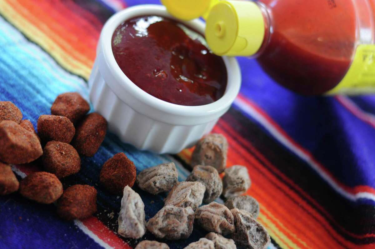 Chamoy evolved from dried, salted plums or apricots -- sometimes coated with Chile, sugar and other ingredients -- into the saucy condiment we know today.