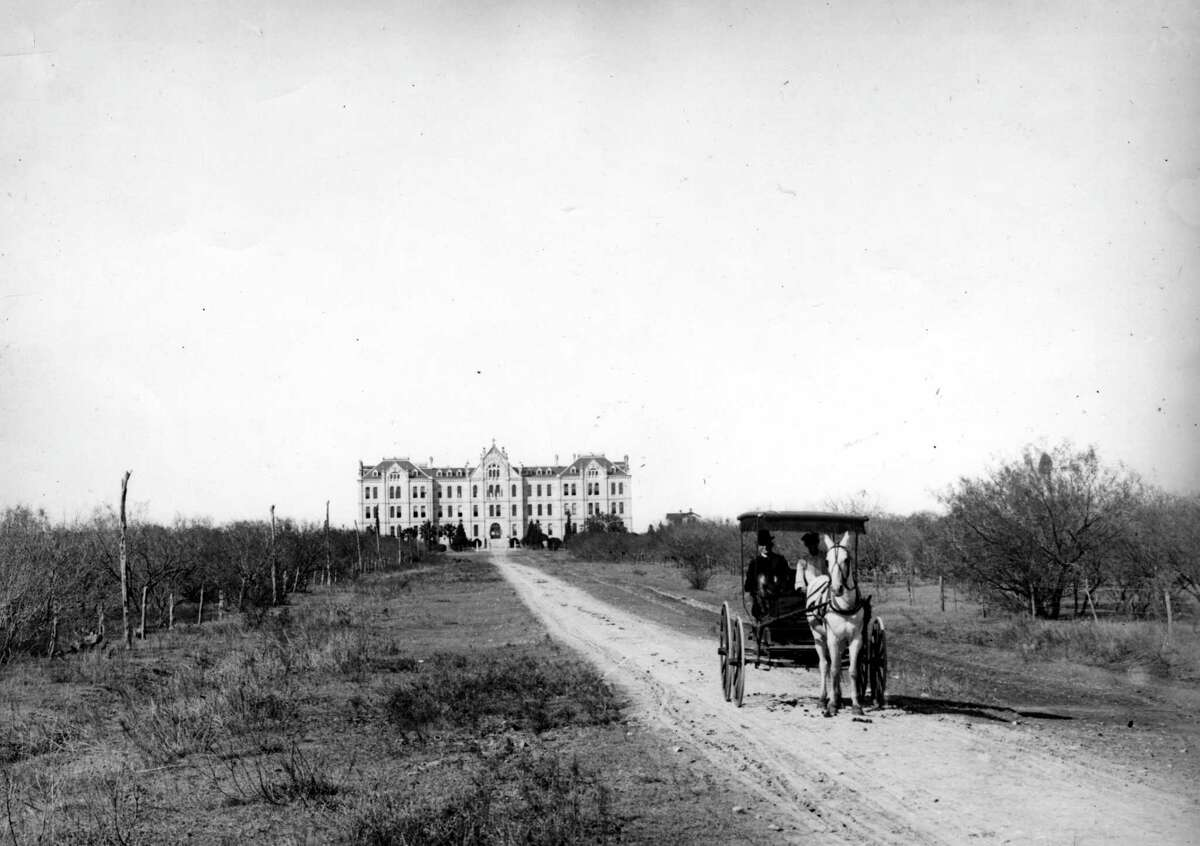 An 1894 photo of St. Mary's University, back when it was called St. Louis College in what was then the outskirts of San Antonio. The campus was renamed St. Mary's College in 1923 and then St. Mary's University in 1927.