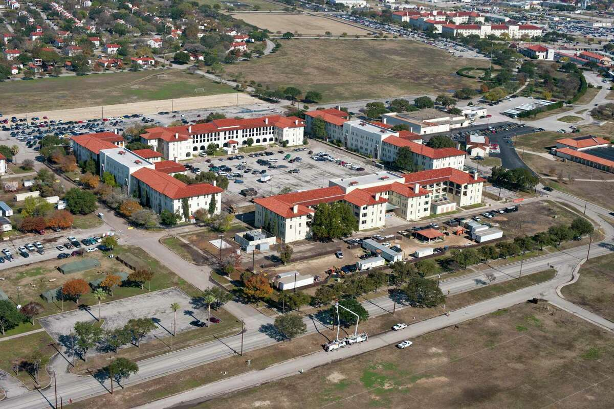 The Army's Installation Management Command is partly located in historic buildings at Fort Sam, seen in 2020 undergoing renovations.