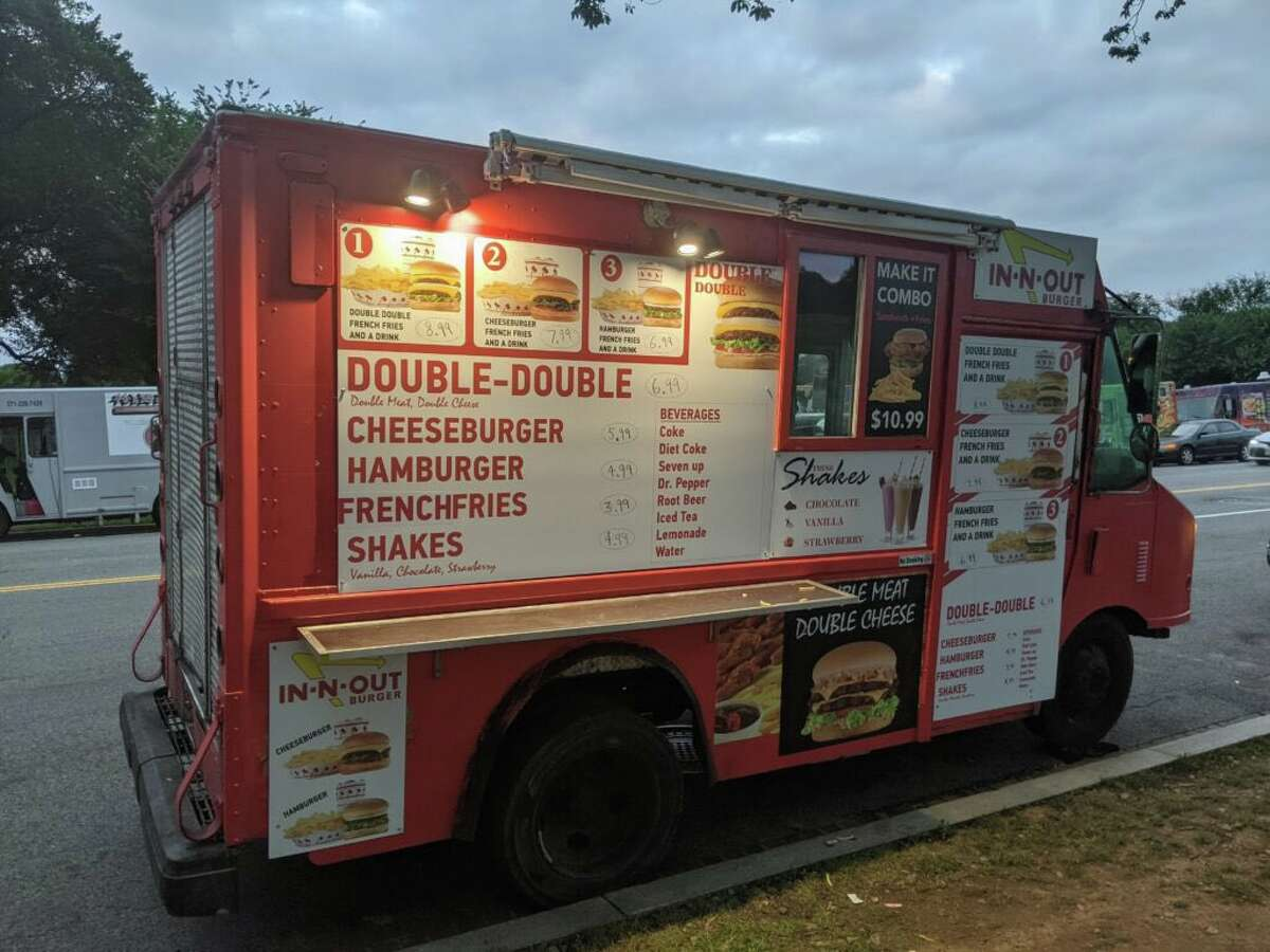 """The exterior of the """"In-N-Out"""" truck driving around Washington, D.C."""