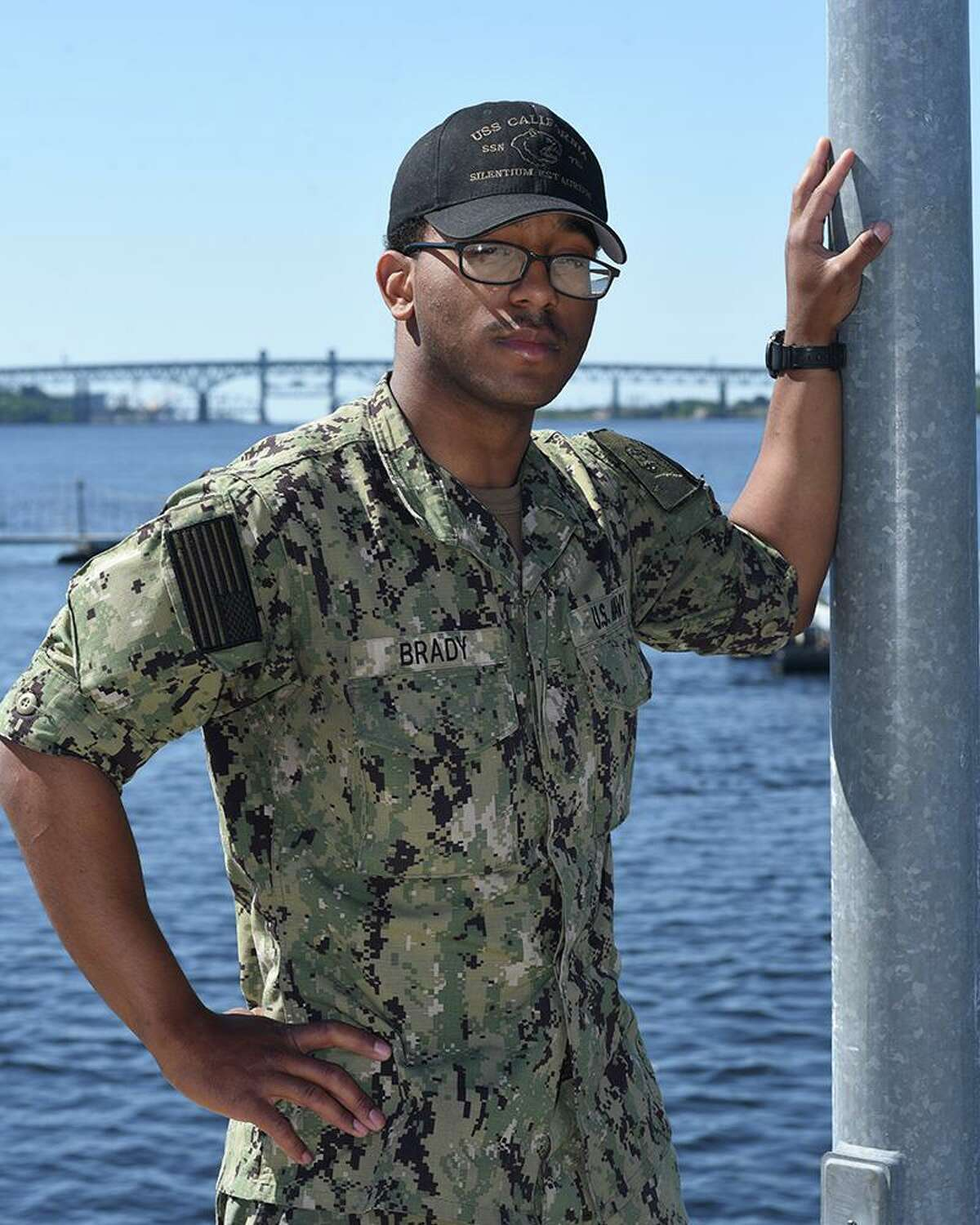 Seaman Bryce Brady, a 2019 George Bush High School graduate, joined the Navy one year ago. He serves the U.S. Navy aboard the USS California, one of the world's most advanced nuclear-powered submarines.