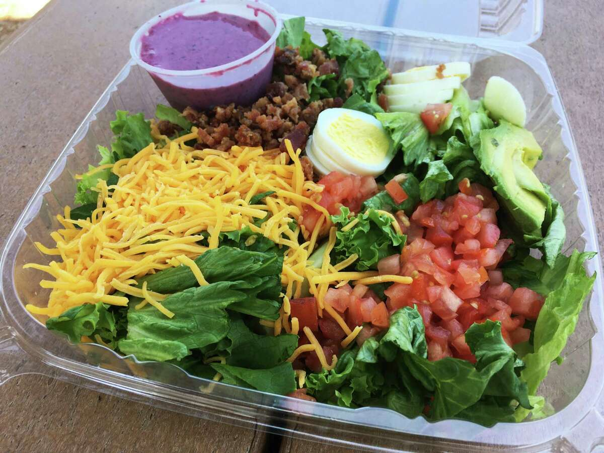 The Cobb salad with a special blueberry vinaigrette dressing at Sensational Salads and Wraps