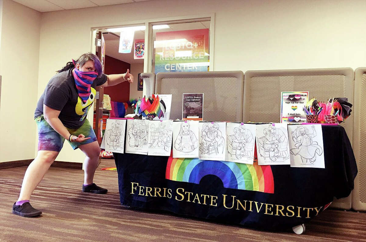 Pictured is Asher Wasshenova, a Nuclear Medicine Technology student and employee of the LGBTQ+ Resource Center at FSU.