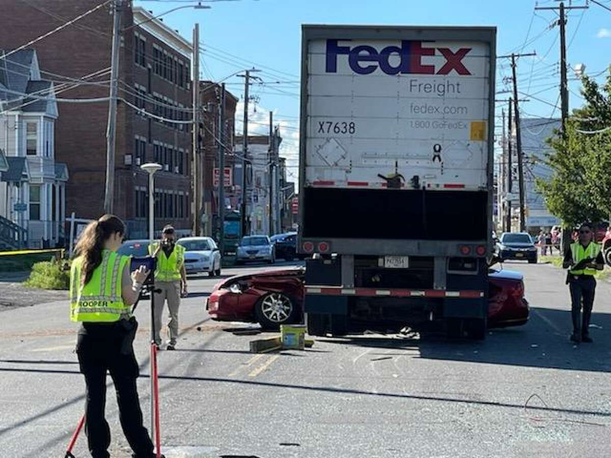 Police are investigating this State Street crash on Wednesday June, 23, 2021.