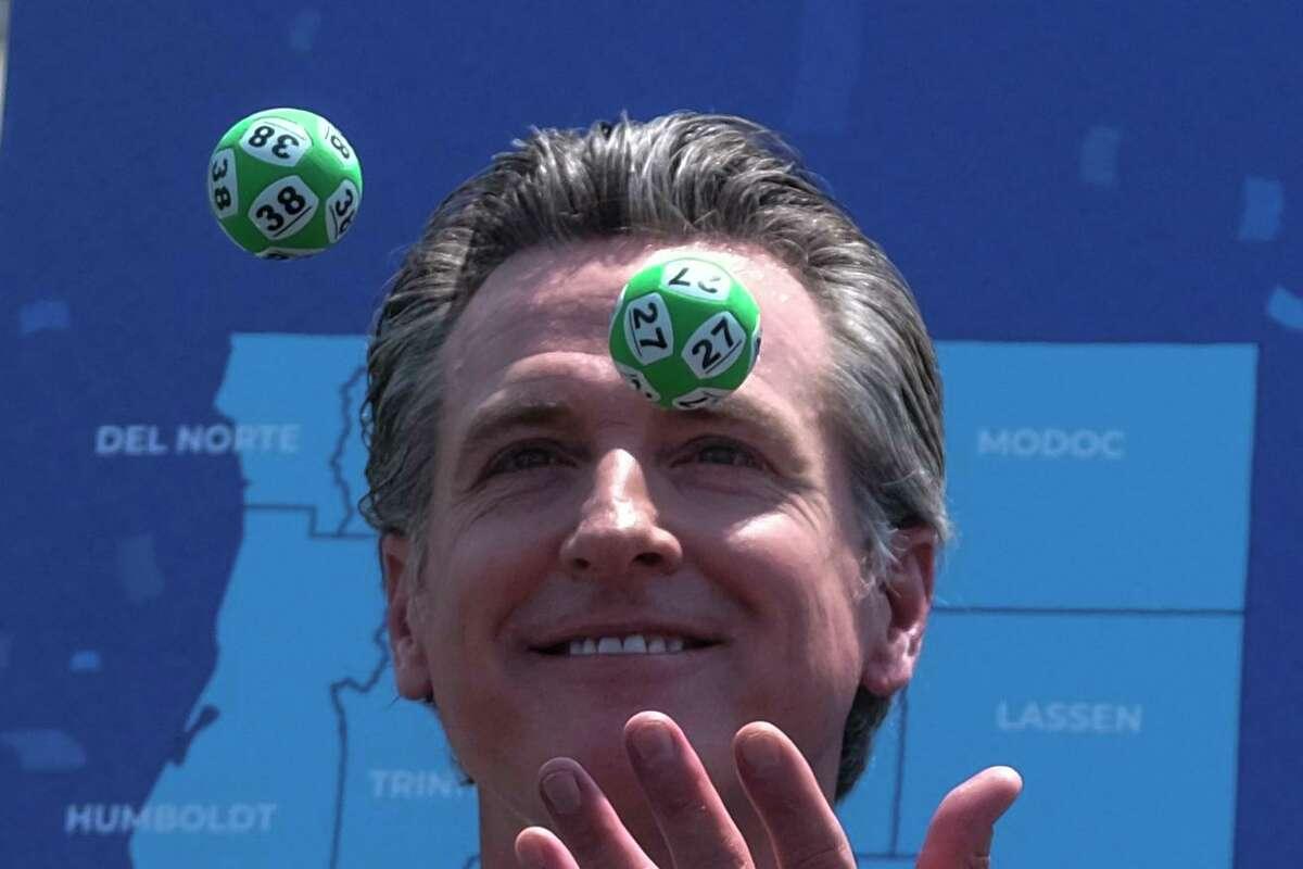 Gov. Gavin Newsom hosts a vaccine lottery drawing on June 15.