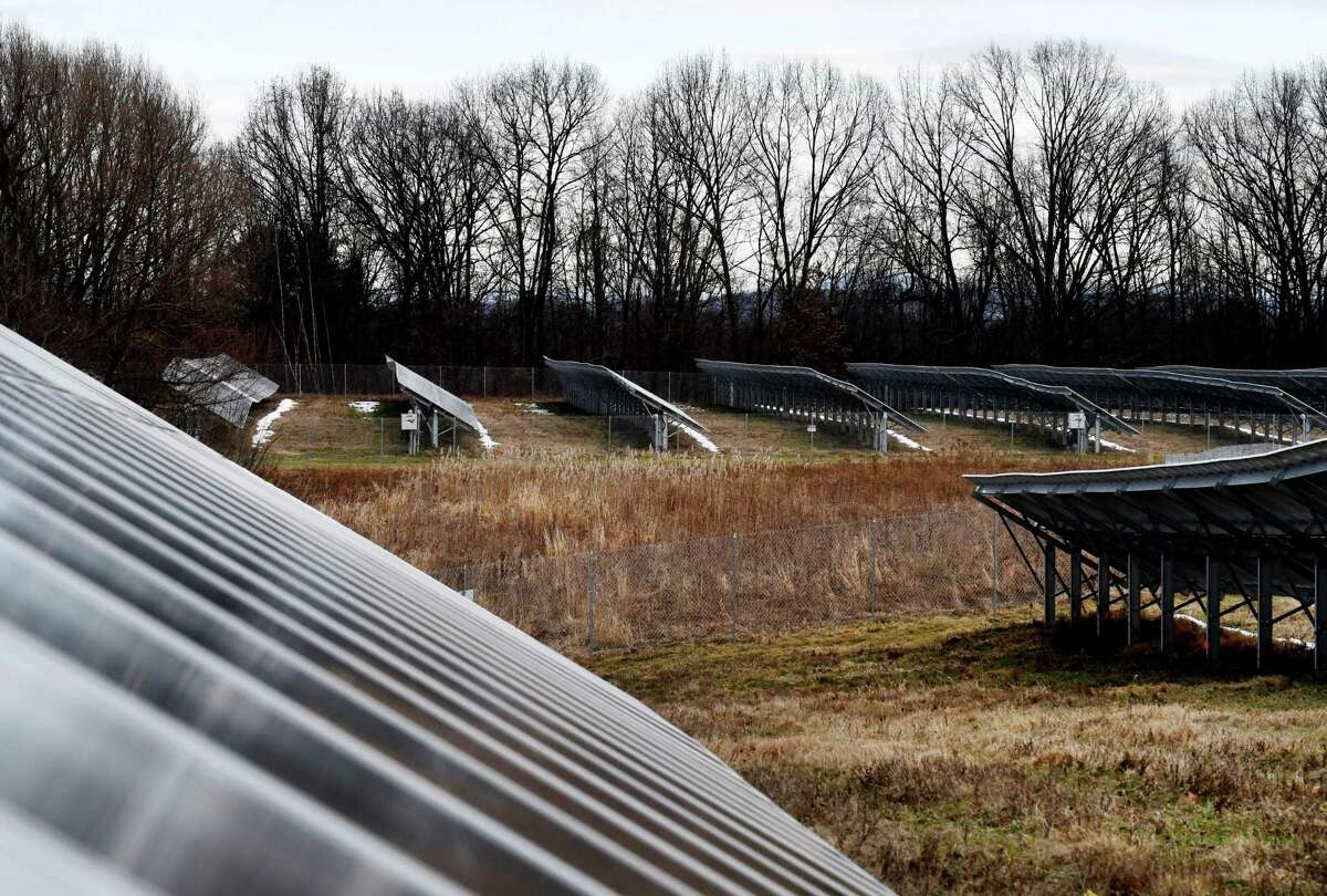 One of the largest community solar projects in upstate New York was officially opened on Monday, Dec. 16, 2019, in Halfmoon, N.Y.