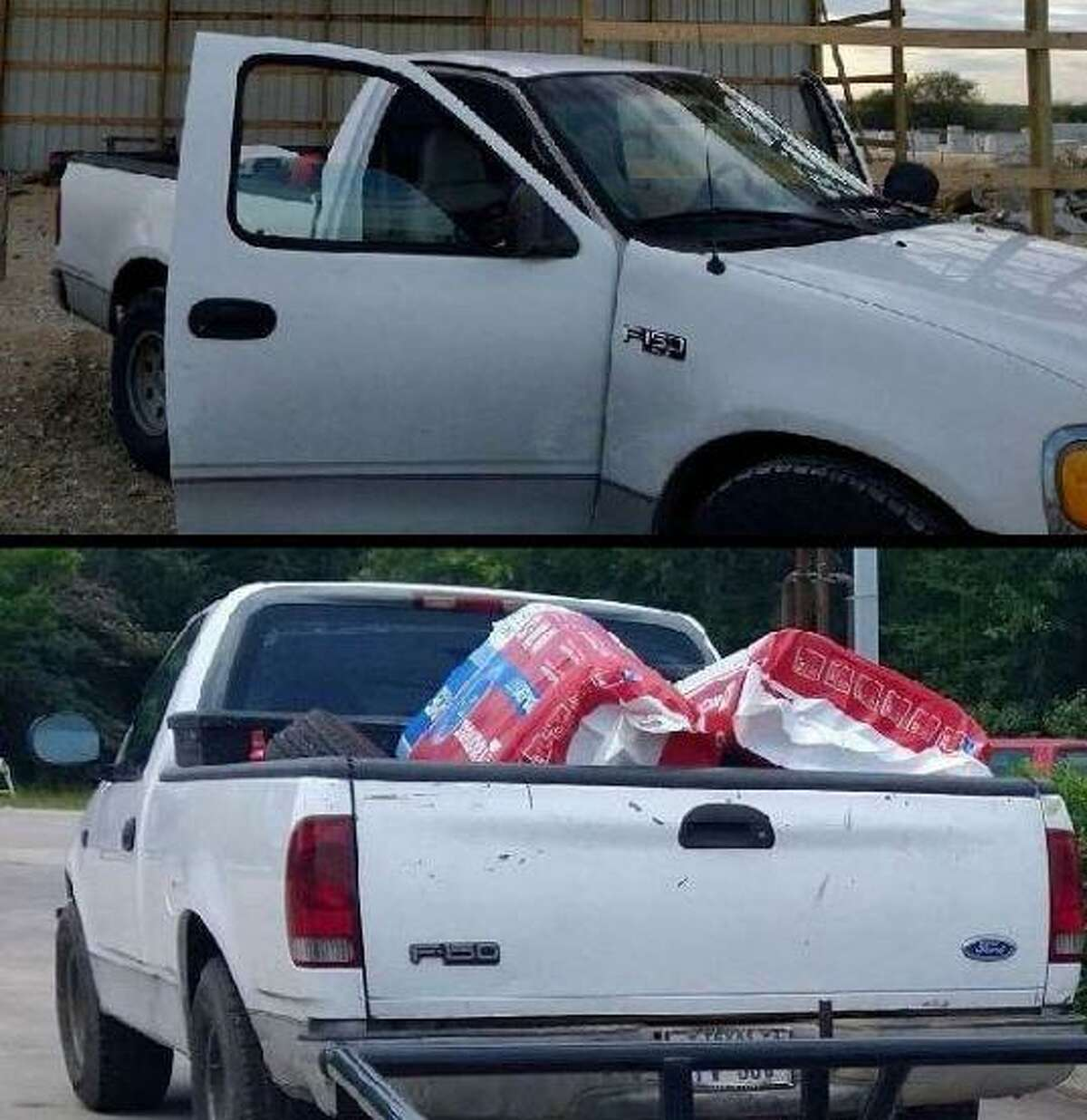 Photos released by authorities show a reportedly stolen Ford F-150.
