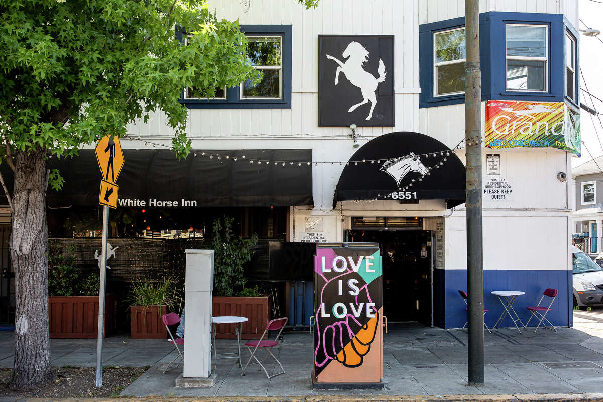 White Horse, at 6551 Telegraph Ave. in Oakland, is the oldest continuously operating gay bar in the United States.
