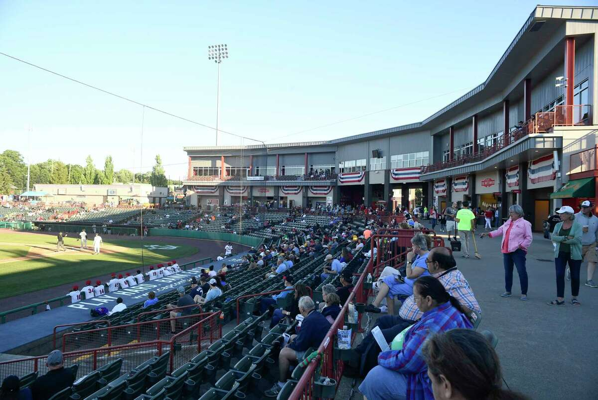 Fans watch the Tri-City ValleyCats play the Sussex County Miners on June 23, 2021. The ValleyCats are averaging 1,835 fans per game this season.