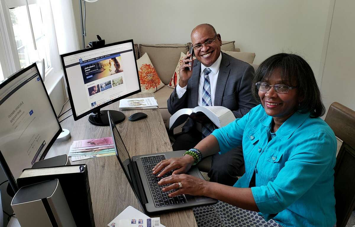 Dominican-born Pascual and Anabel Feliz speak Spanish fluently and are Jehovah's Witnesses. When the pandemic ended the Witnesses practice of door to door evangelizing, they went online, wrote letters and phoned Latino Capital Region residents. They networked their way to hundreds of Latino residents who enjoy talking, studying and praying together online.