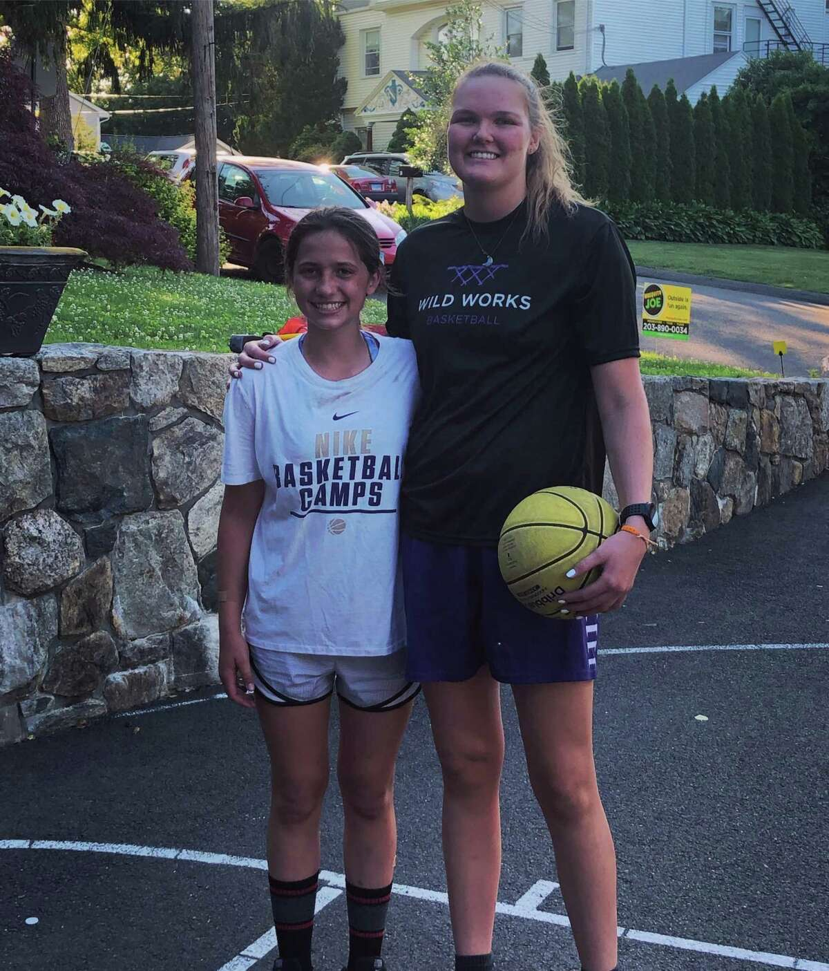 Abbie Wolf has been doing individual training with players in Greenwich. Madison Utzinger, a rising eighth grader at Western Middle School has been working with Wolf.