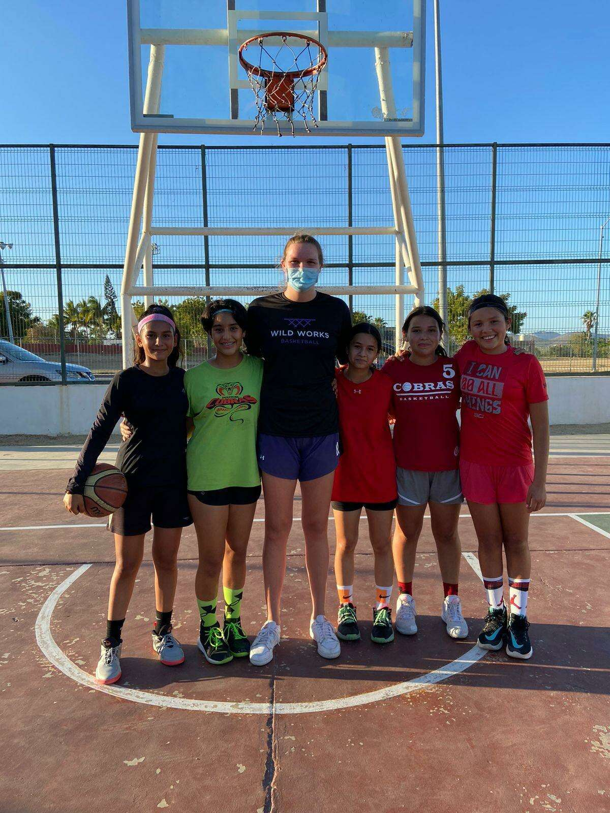 Abbie Wolf of Greenwich ran a clinic two days a week for a month in San Jose de Cabo, Mexico with the Cobras de Cabo.