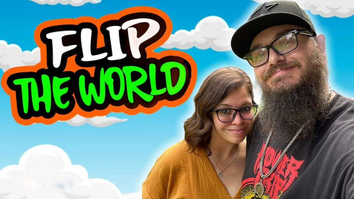 """Houston's Chris and Stacy Hatfield of the """"Flip the World"""" YouTube channel"""