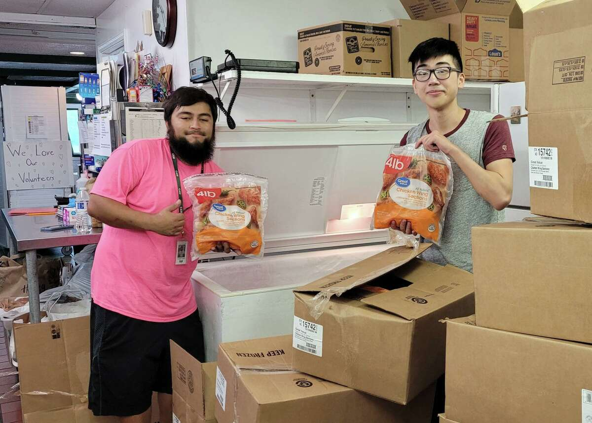 Cypress Assistance Ministries received donations of chicken and bacon from Tyson Foods