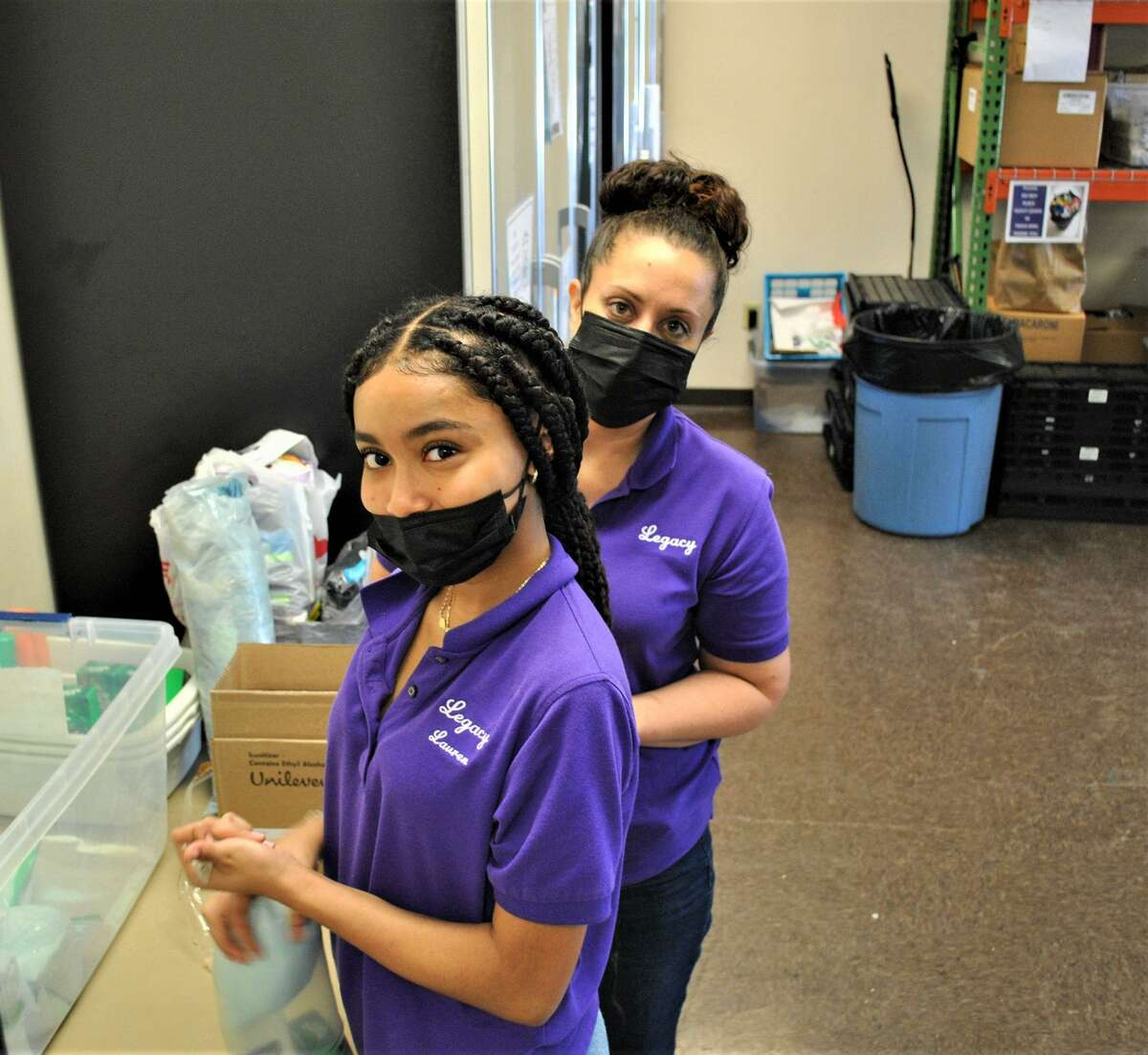 Northwest Assistance Ministries received help in their food pantry from Legacy League Inc.