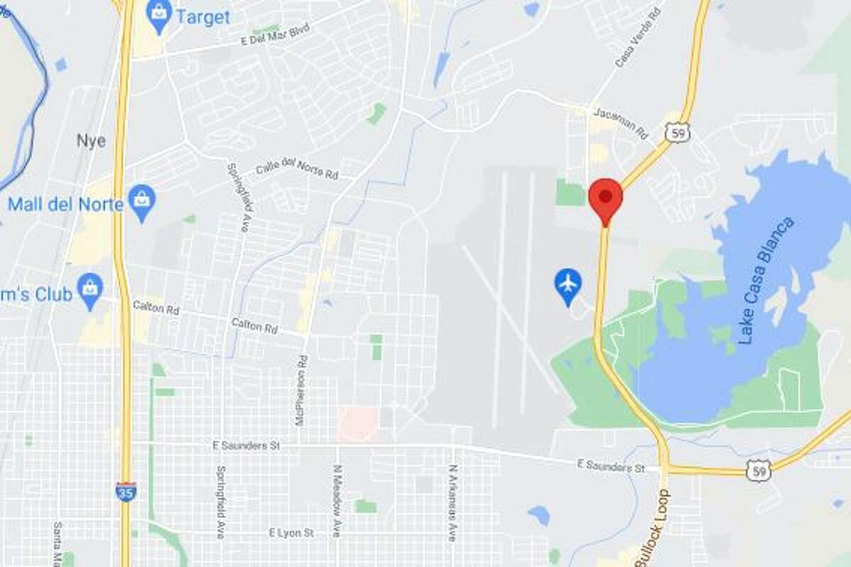 The crash was reported at about 9:20 p.m in front of the Laredo International Airport in the 5200 block of Bob Bullock Loop