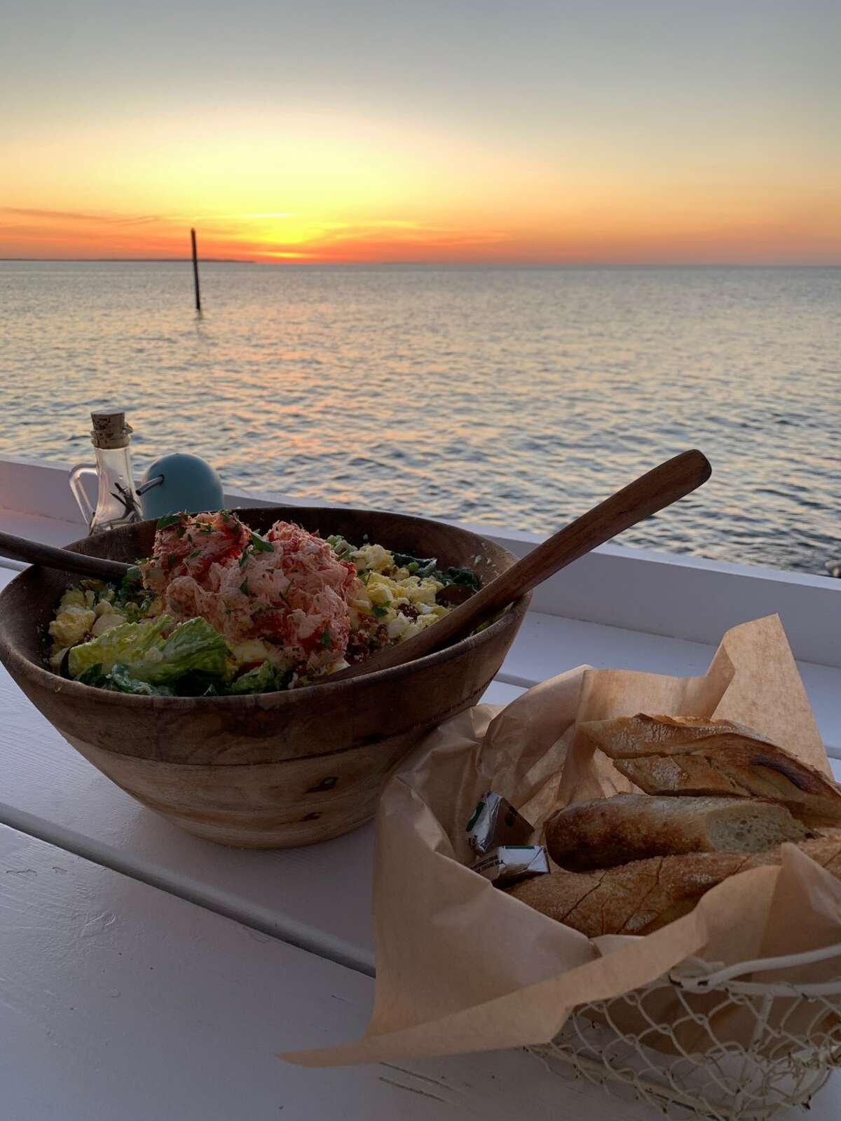 The view at Duryea's in Montauk looks like a postcard. If you time it right, you can head there for dinner and catch the sunset over the water.