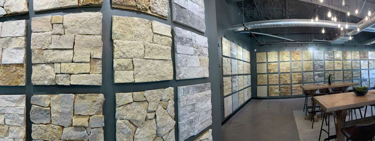 The Rock Materials showroom, located at 13315 Theis Lane in Tomball, displays a full range of natural rock options.