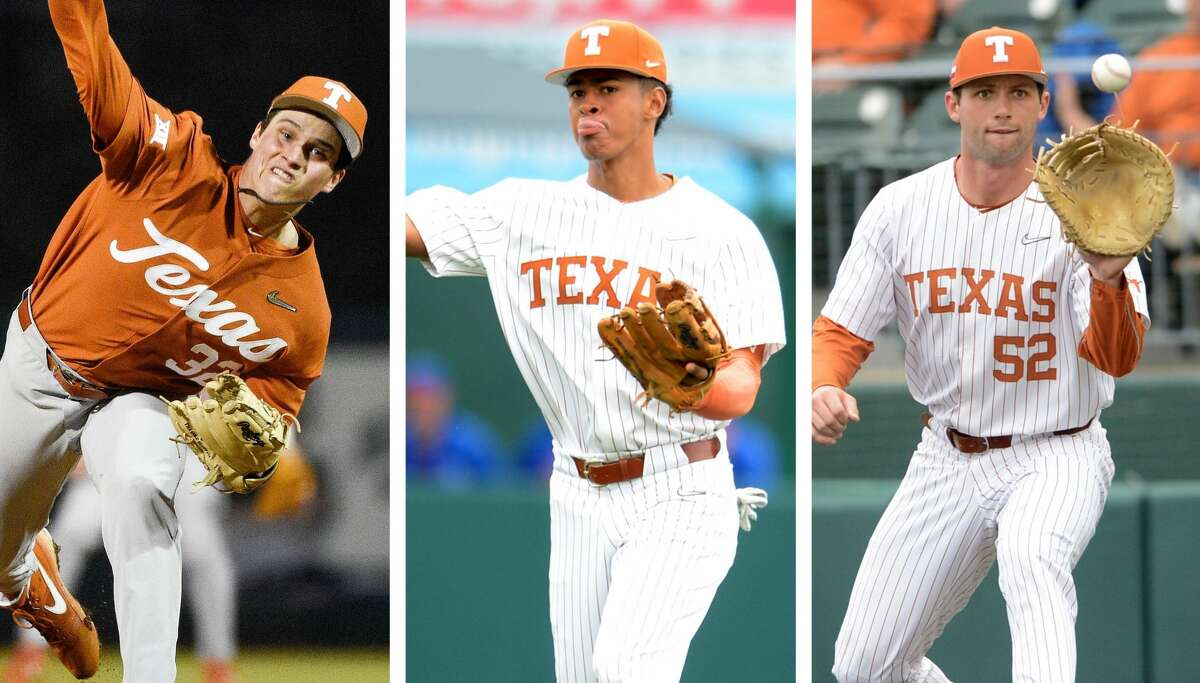Ty Madden (left), Trey Faltine (center) and Zach Zubia give the Longhorns a core of Houston players.