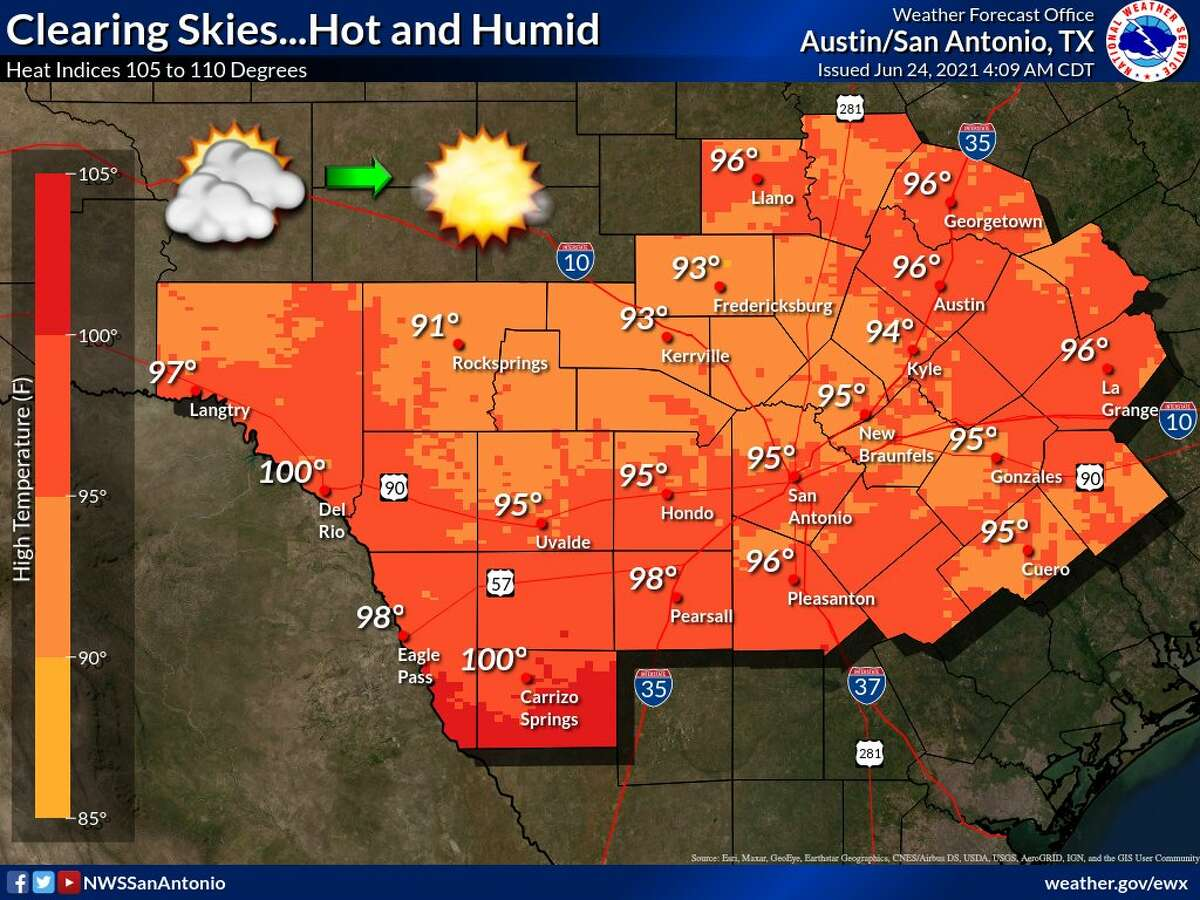 The heat continues for the San Antonio area through the weekend.