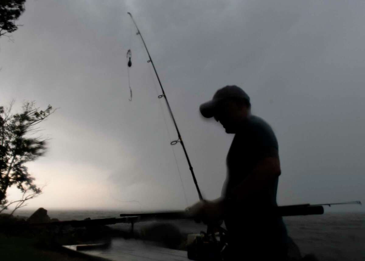A file photo of a fisherman in Greenwich, Conn.