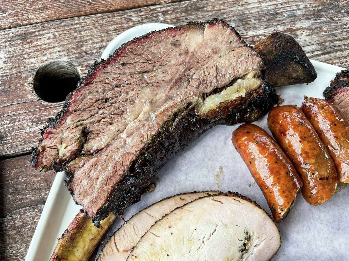 Beef rib at Killen's Barbecue in Pearland
