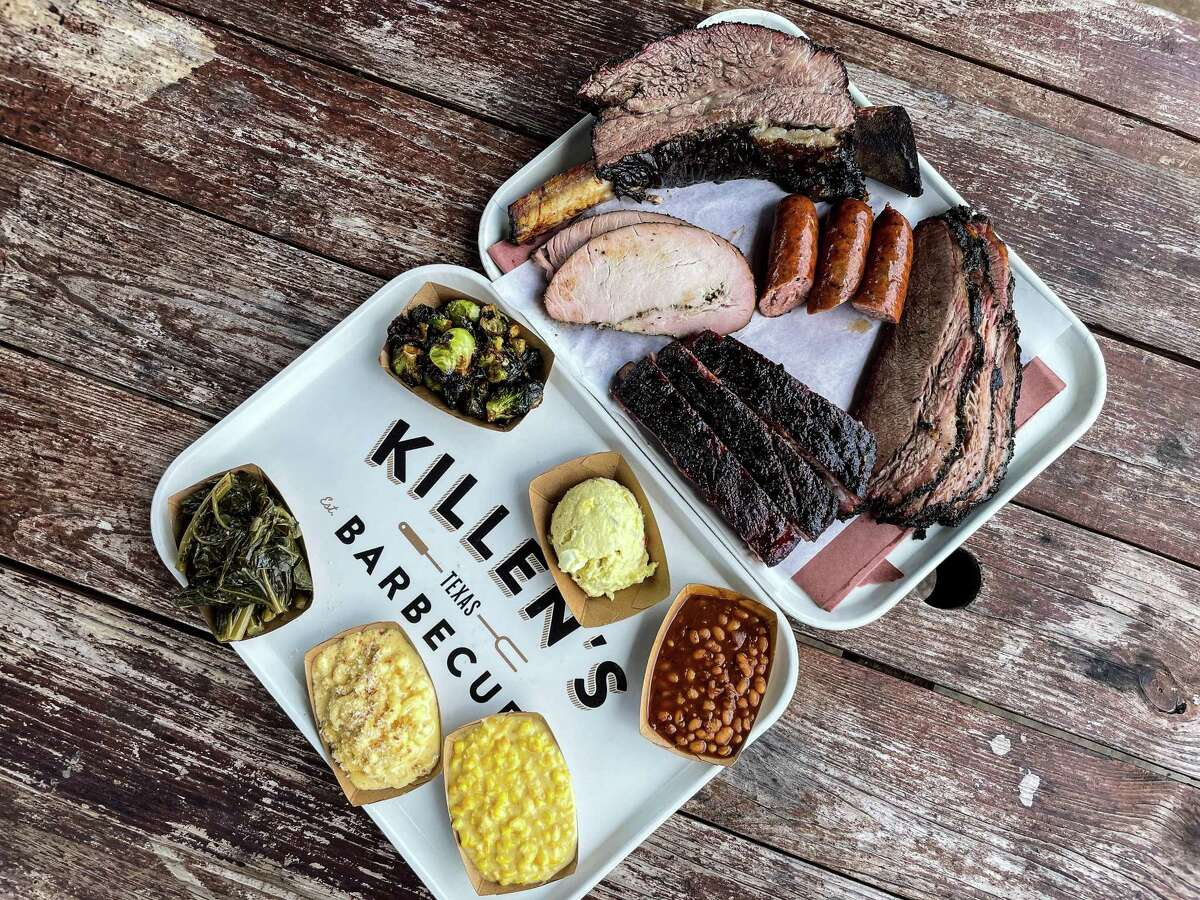 Barbecue and sides at Killen's Barbecue in Pearland
