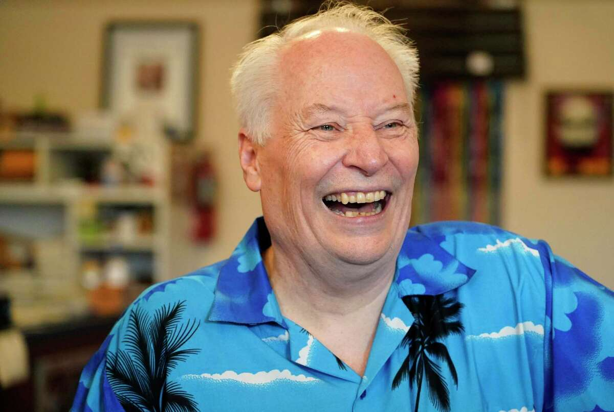 Joe Lansdale, an author of more than 40 novels, is shown in The Bosslight bookstore Tuesday, June 15, 2021 in Nacogdoches.