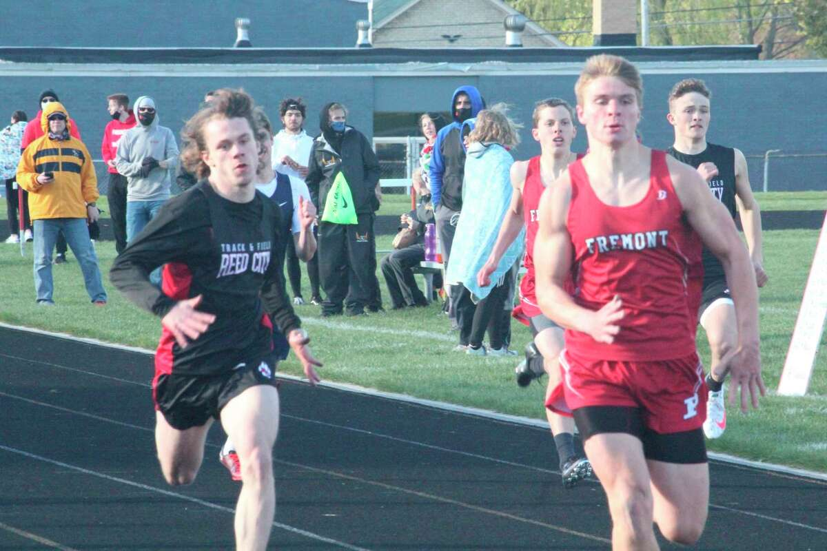 Noah Jones (left) had a banner senior season, along with his relay team, for Reed City track. (Pioneer file photo)