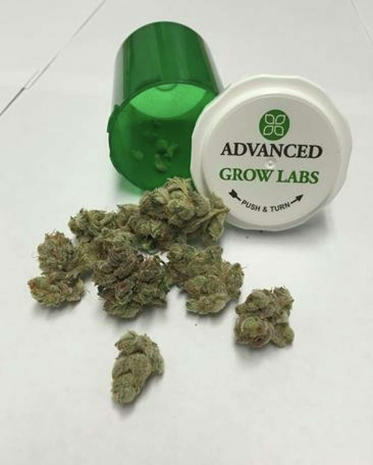 Dried marijuana flowers is one of the products sold at Compassionate Care of Connecticut dispensary, in Bethel, Conn.