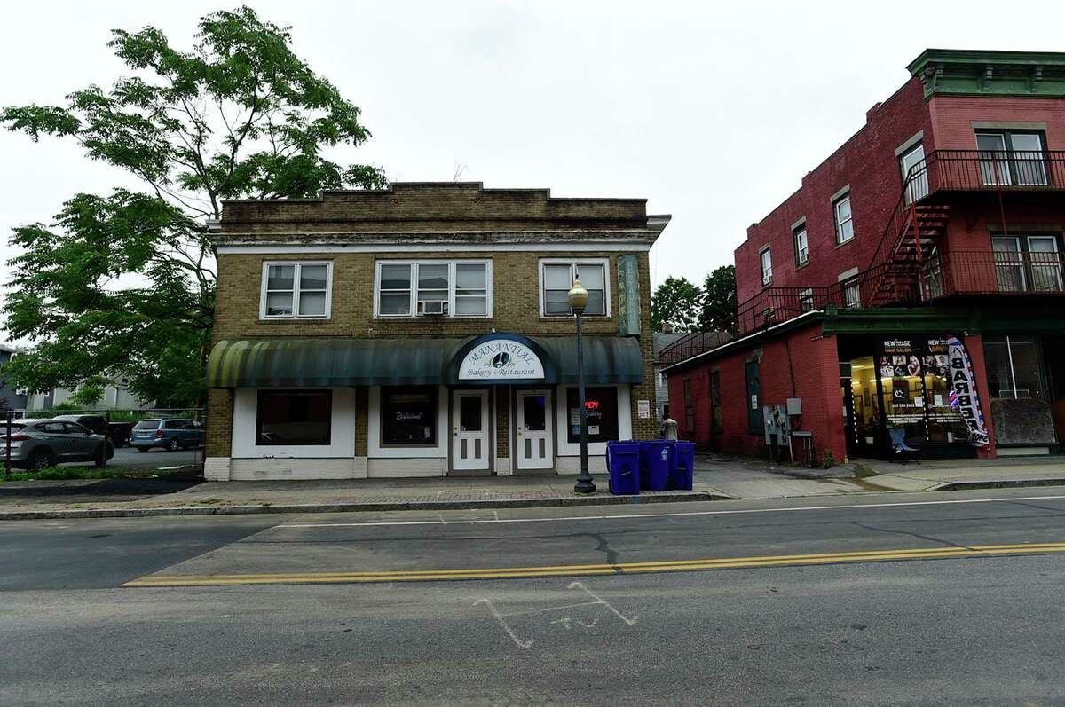 10 Monroe Street building and lot which is planned for redevelopment Tuesday, June 22, 2021, in Norwalk, Conn.