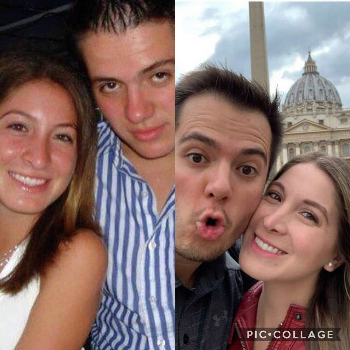 Throwback photos of Mariana and her husband.