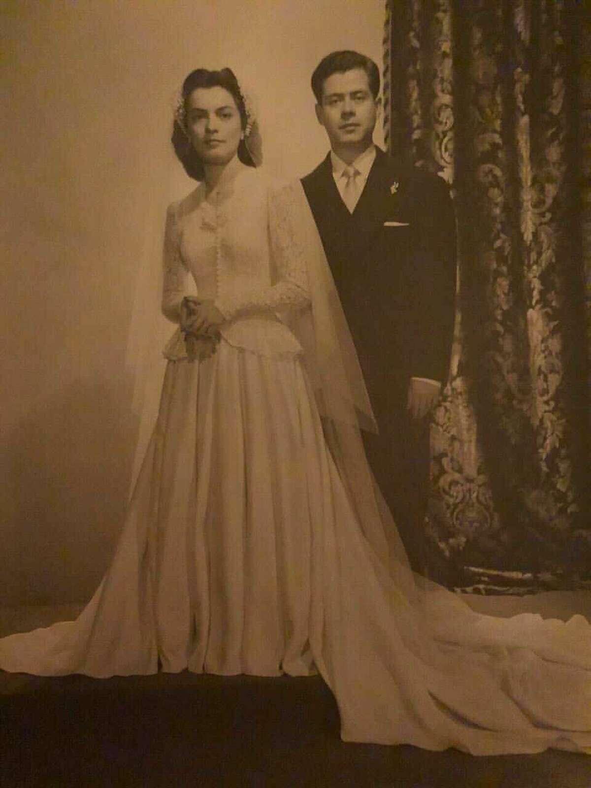 Mariana's grandmother, who originally wore the wedding dress Mariana wore.