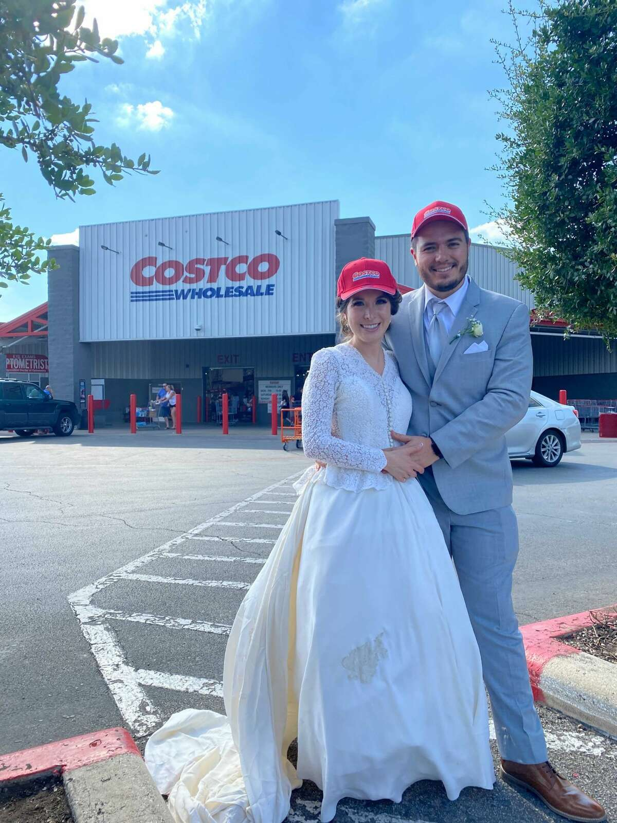 Mariana and her husband Gerado made a stop at Costco after their wedding.