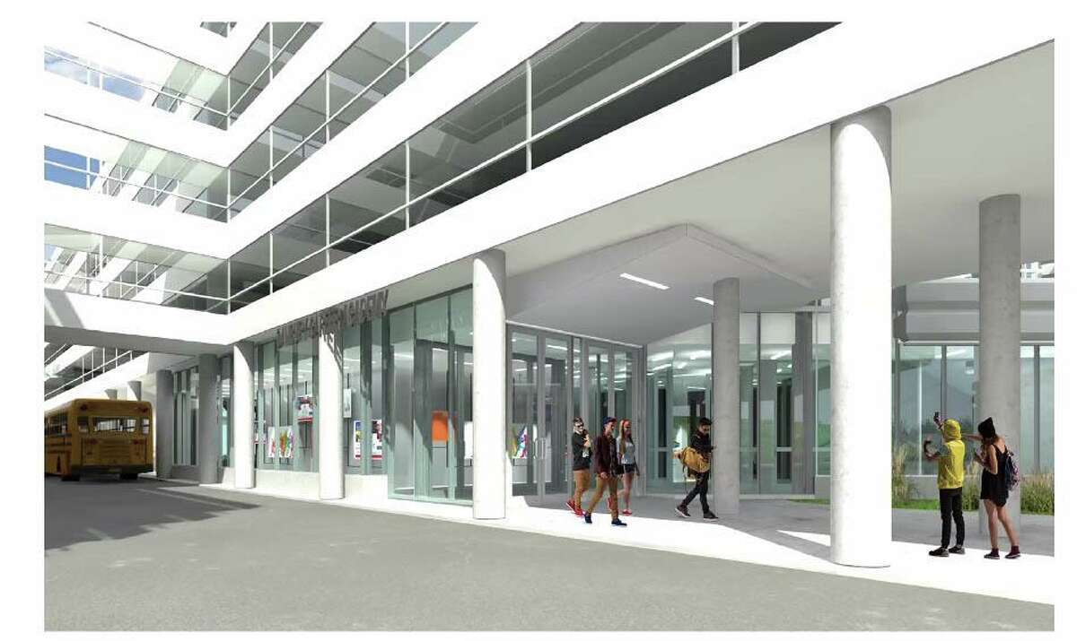 A preliminary rendering of the Danbury Career Academy for middle and high school students at the Summit.