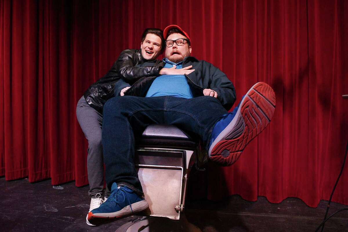 """The Art Park Players' production of """"Little Shop of Horrors"""" includes cast members Chad Fontenot and Taylor Fisher."""